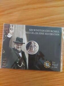 THE ROYAL MINT SIR WINSTON CHURCHILL 2015 UK £20 COIN SEALED
