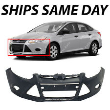 NEW Primered - Front Bumper Cover for 2012 2013 2014 Ford Focus Sedan / Hatch