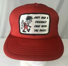 Vintage Novelty Snapback Trucker Hat Just Had A Friendly Chat With The Boss Red