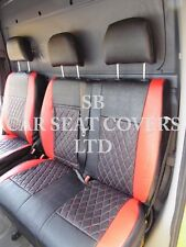 TO FIT A FORD TRANSIT CUSTOM VAN, SEAT COVERS, FLAT BED, RED / BK BENTLEY D