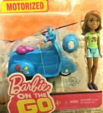 Motorized Barbie On the Go Doll and Scooter Vehicle New