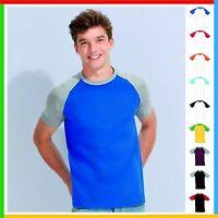 Sol's FUNKY CONTRAST T-SHIRT Baseball 100% Ringspun Cotton Tee Plain T Shirt