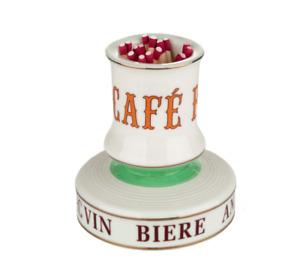 Match Striker Holder Pyrogene, Classic Cafe French Porcelain
