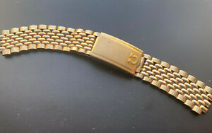Omega Beads Of Rice Gold Plated Bracelet Oval Links