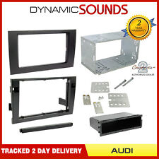 CT23AU07 Black Double Din Fascia Adaptor Fiiting Kit For Audi A4 2001 to 2008