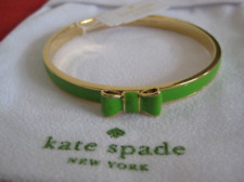 NWT Kate Spade Take A Bow Enamel W/ Gold Trim Bangle Bracelet  MULTI O0RU0302