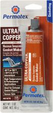 PERMATEX 81878 ULTRA COPPER HIGH TEMP RTV SILICONE - 3 OZ Tube/Carded 101BR NEW