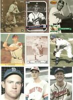 Boston Braves 11-Card Unique. Obscure & Original Card Collector's Lot