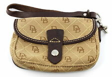 Dooney & Bourke Signature Quilt Flap Wristlet Coin Purse