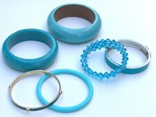 Fashion Jewelry TURQUOISE Bracelet Lot * Assorted Types & Materials.  Lot of 6