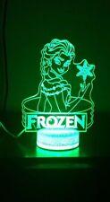 Frozen Elsa 3D Bulbing illusion 7 Color LED Light Night Change Table Desk Lamp