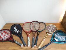 Lot of 7 Tennis Racquets Rackets Wilson  4 3/8 L3 + other sizes - racquet racket