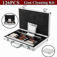126pc Pro Universal Gun Cleaning Kit Pistol Rifle Shotgun Firearm Maintenance