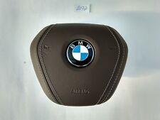 BMW 5 G30 6 G32 GT 7 G11 OEM ORIGINAL BROWN LEATHER STEERING WHEEL AIRBAG SRS