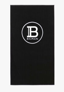 New Authentic Black Balmain Beach Towel