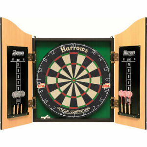 Harrows Pro's Choice Complete Dart Set with Board + Cabinet & Darts JE14DX