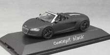 "Schuco Audi R8 Spyder ""Concept Black"" 2012 4507524600 1/43 NEW Ltd Ed"