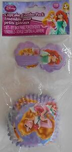 Party Cupcake Baking Cups DISNEY PRINCESSES Purple with Picks 18 Pack S2