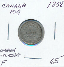 CANADA 10 CENTS 1858 - F