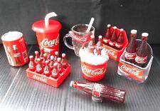 Lot of 8 pcs coke coca cola dollhouse miniature fridge magnets  bottles gift#2
