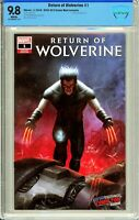 Return of Wolverine #1 NYCC Comic Mint Exclusive - CBCS 9.8!