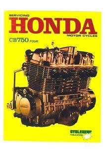 Honda Motorcycle Motorbike CB750 Four K1 K2 K3 & K4 Workshop Manual