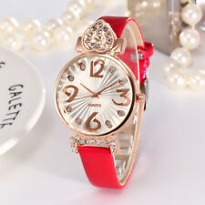 Women's Fashion Luxury PU Leather Strap Alloy Analog Quartz Round Watch