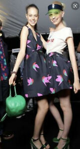 Brand New MARC by MARC JACOBS Pure Silk Night Bird Taffeta Skirt~M~NWT $348