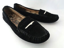 SAM EDELMAN Jones US Womens 8M Black suede leather Driving Moc Loafer Shoe