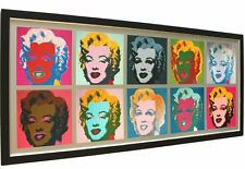 Bild Andy Warhol Marilyn Monroe pop art mit Rahmen 142 x 64 cm -42% SALE