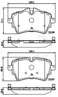Allied Nippon Front Brake Pad Set ADB02261  - BRAND NEW - 5 YEAR WARRANTY