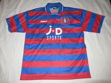 Vintage Pony 90s Oldham Athletic Home Soccer Football Jersey Team Autograph L
