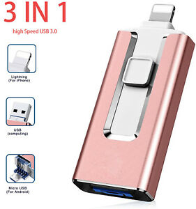 64GB 512G 1TB USB Flash Drive OTG Memory Photo Stick For iPhone iPad Android PC