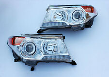 Modified LED Front Head Light Lamp Fit for Toyota Land Cruiser LC200 2008-15