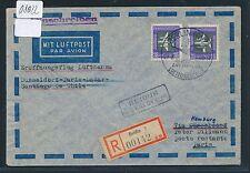 08022) LH FF Hamburg - Chile 9.4.58, Reco ab DDR . lesen