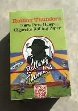50 packs Rolling Thunders 100% Hemp Cigarette Smoking Rolling Paper 1.5 size New