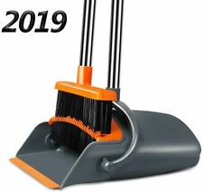 Dust Pan and Broom, Self-Cleaning with Dustpan Teeth, Ideal for Dog Cat Pets Use