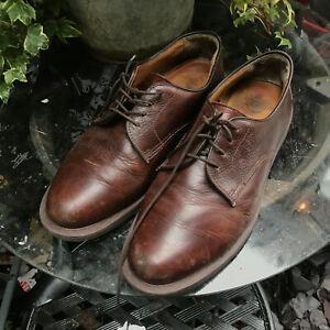 Original Dr Marten OCTAVIUS brown grain leather Air Wair shoes size 10