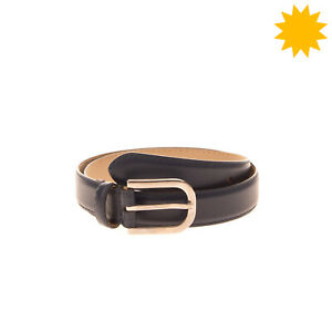 RRP €140 ARMANI COLLEZIONI Leather Belt Size 42/M 80/32 Pin Buckle Made in Italy