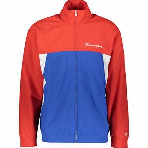 CHAMPION Men's Zipped Colour Block Jacket, Red & Blue, size M