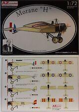 Morane H, 1:72, AZ MODEL, kit di plastica, pittura 4 varianti, da Aviatore WWI NUOVO