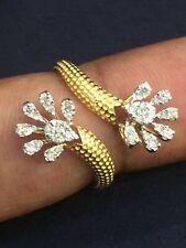 Pave 0,36 Cts Ronde Brillante Couper Diamants Anniversaire Bague En 750 18K Or