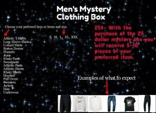 Men's Clothing Box, Includes all sizes and all types of brands.