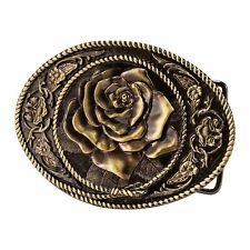 Women's Flower Rose Belt Buckle Badge Southern Cowgirl Girl Western Rodeo Lady