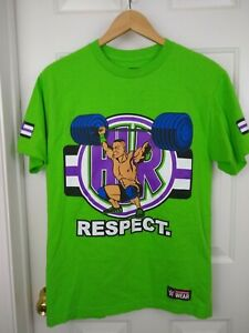 WWE John Cena Respect Never Give Up Earn It Size M Authentic T Shirt Mens