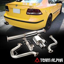 "Fits 2003-2011 Saab 9-3 Turbo 2.0T[2.5"" TIP DUAL MUFFLER]Catback Exhaust System"