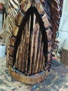 GREAT CHRISTMAS GIFT SUSSEX CHAINSAW CARVING FAIRY HOUSE HOME OR GARDEN STATUE