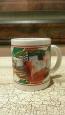 HARLEY DAVIDSON CHRISTMAS MUG CUP MOTORCYCLE SANTA CHILDREN ON LAP 1997