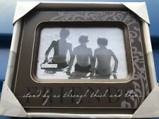 Malden Friends 4x6 Expressions Picture Photo Brown Frame (JB)