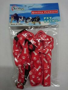 Black, Blue or Red Small Dog Harness & Lead, Puppy, Cat, Kitten Adjustable Lead